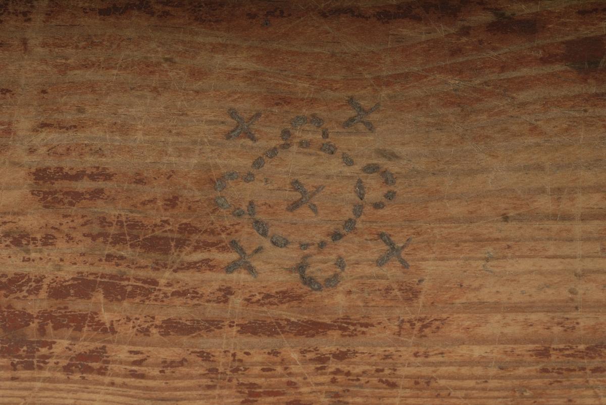 Svijernsornamentikk, bølgebord, 5 små rosetter