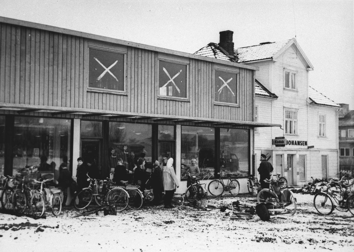 Åpning etter første byggetrinn i 1958.
