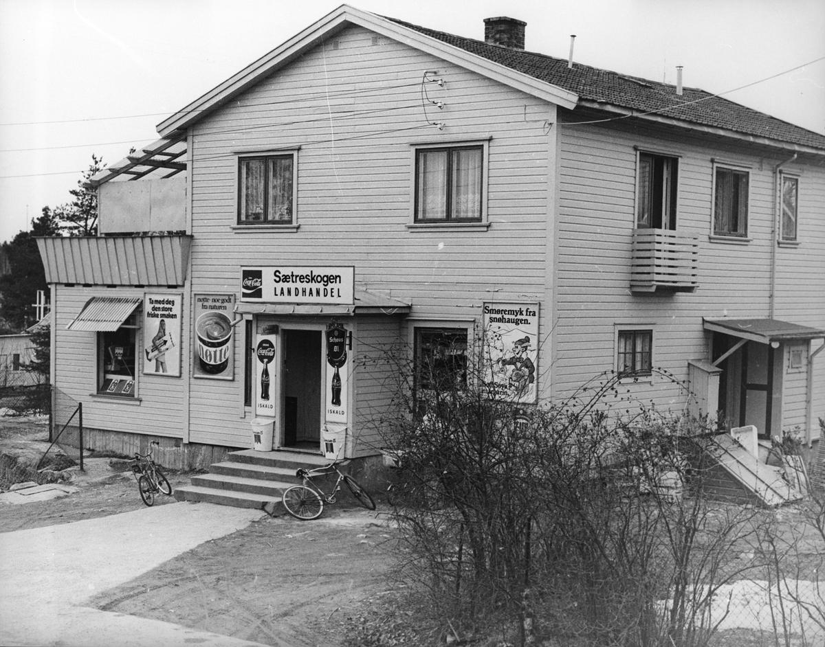 Sætreskogen landhandel fra 1947.