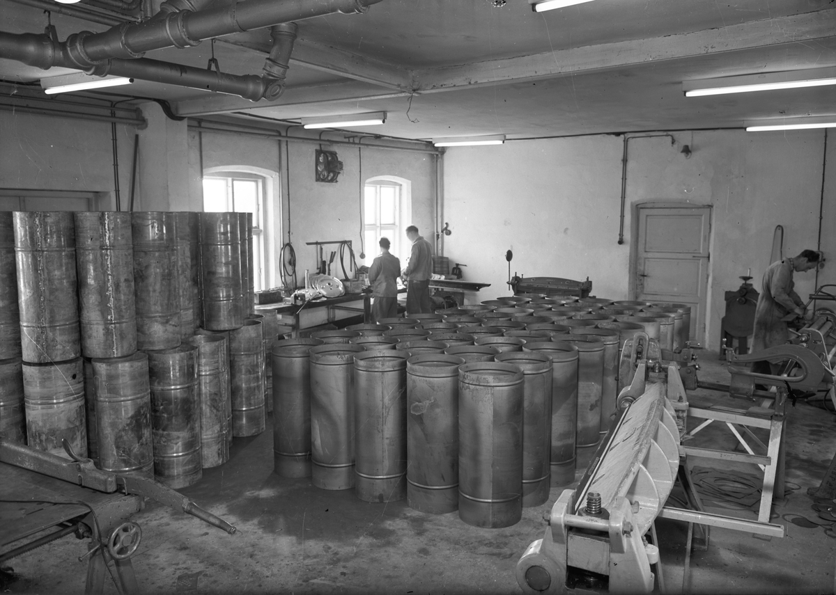 Olsen Ruud, august 1950. Mekanisk verksted.
