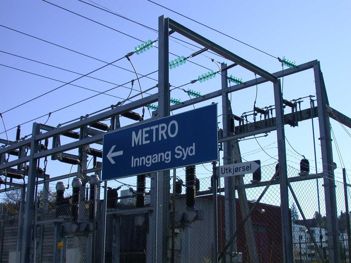 Trafostasjonen ved Metrobygget. Fotovinkel: S