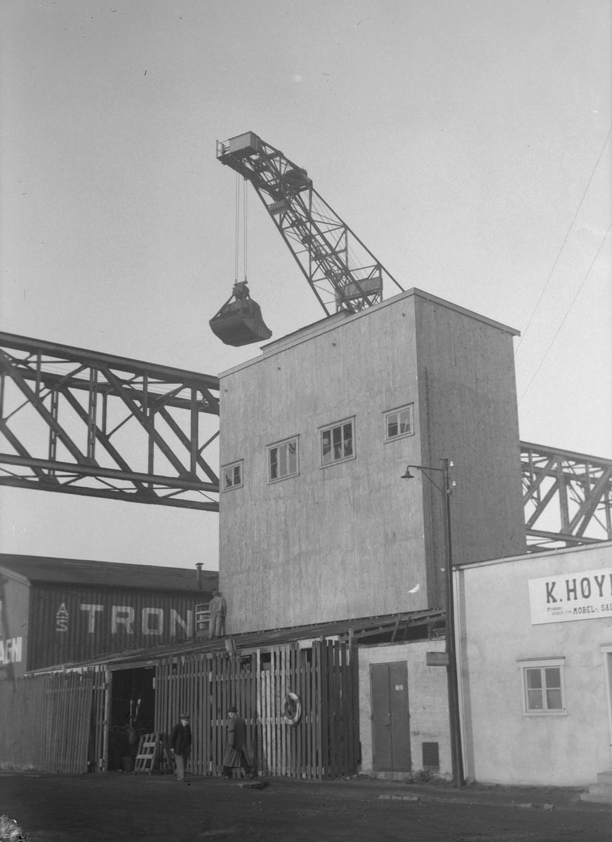 Trondhjems Kulkompagnis nye silo på Rosenborgkaia