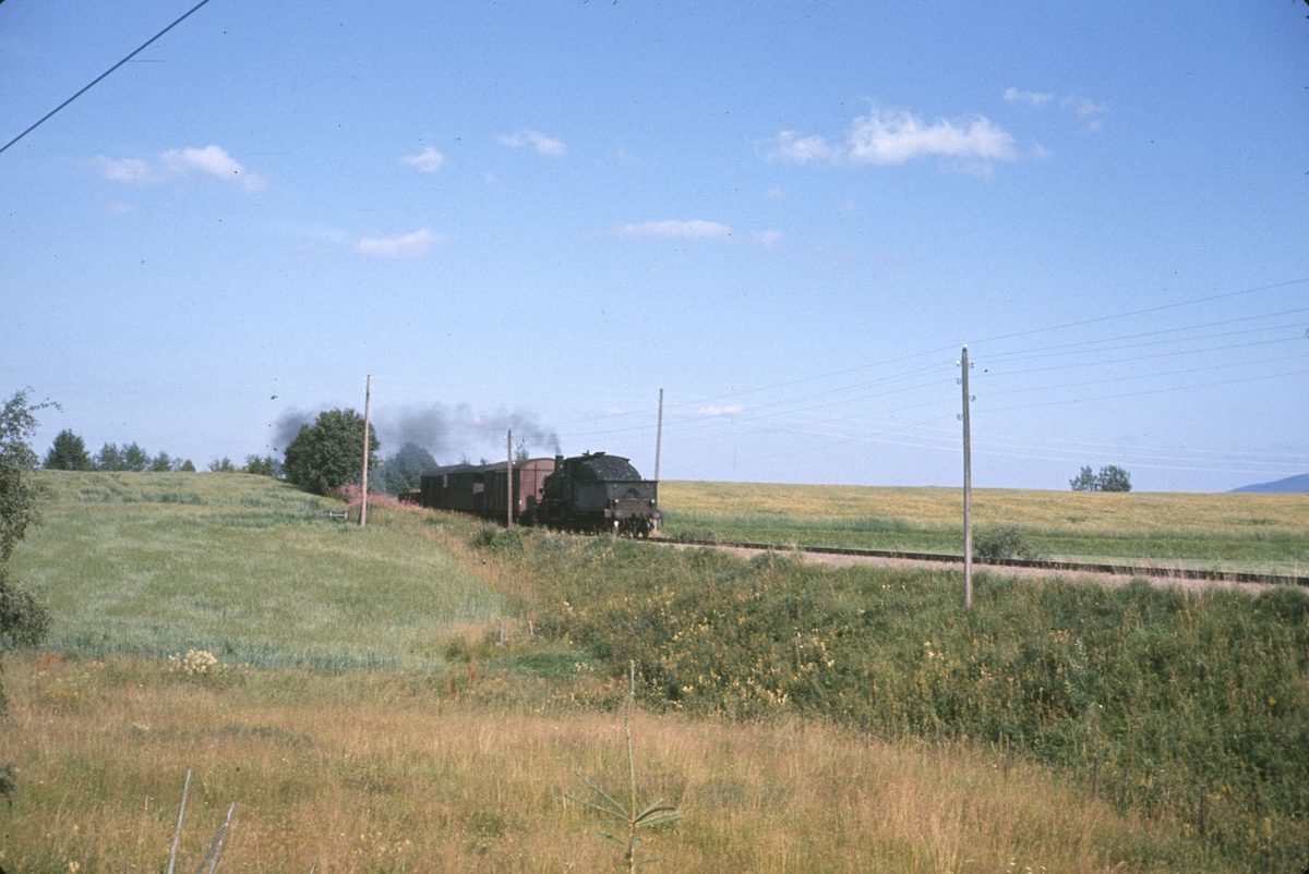 Godstog på Skreiabanen underveis retning Reinsvoll