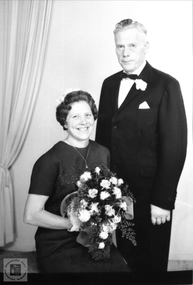Portrett av ekteparet Tarjerd og Trygve Trygsland.