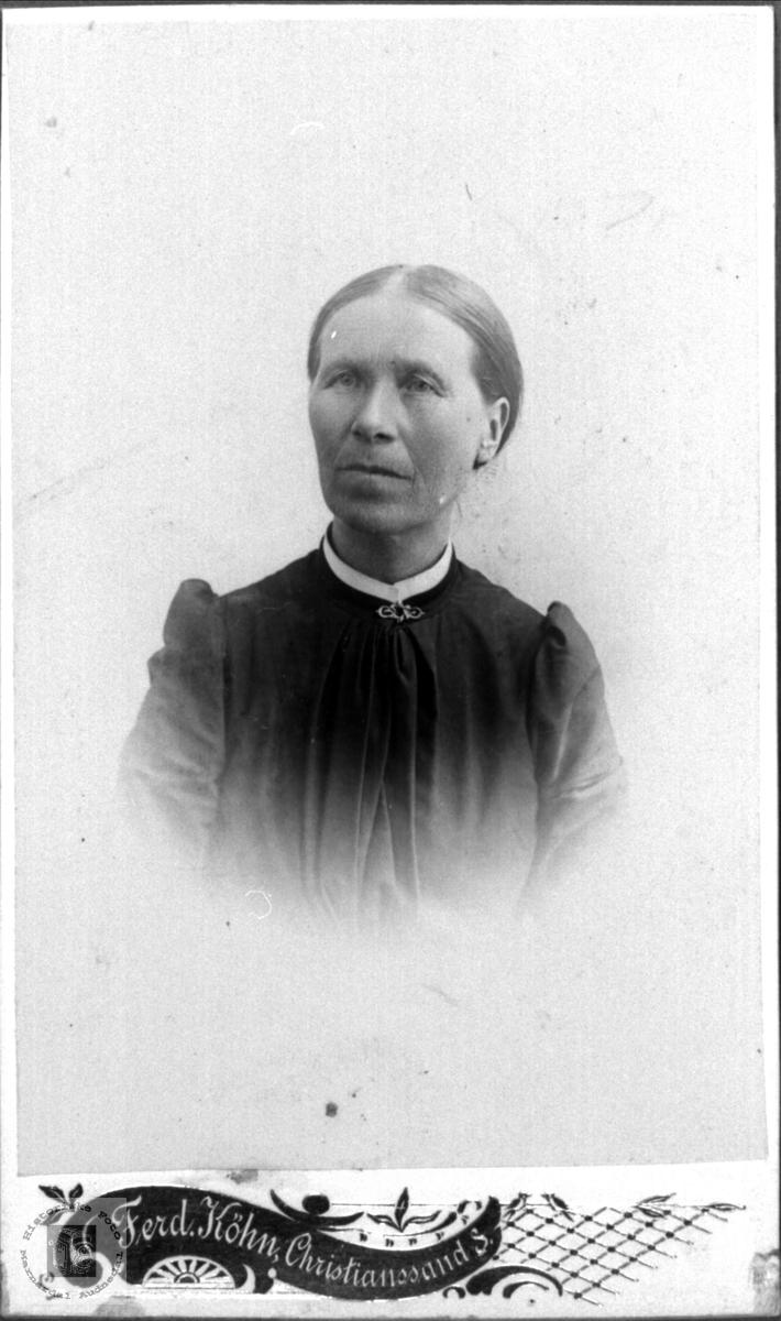 Portrett av Gunvor Ånensdtr. Bruskeland.