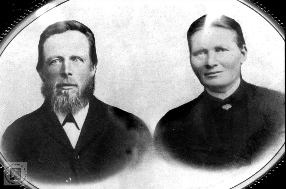 Dobbelportrett ekteparet Lars og Gunhild Skjebeli.