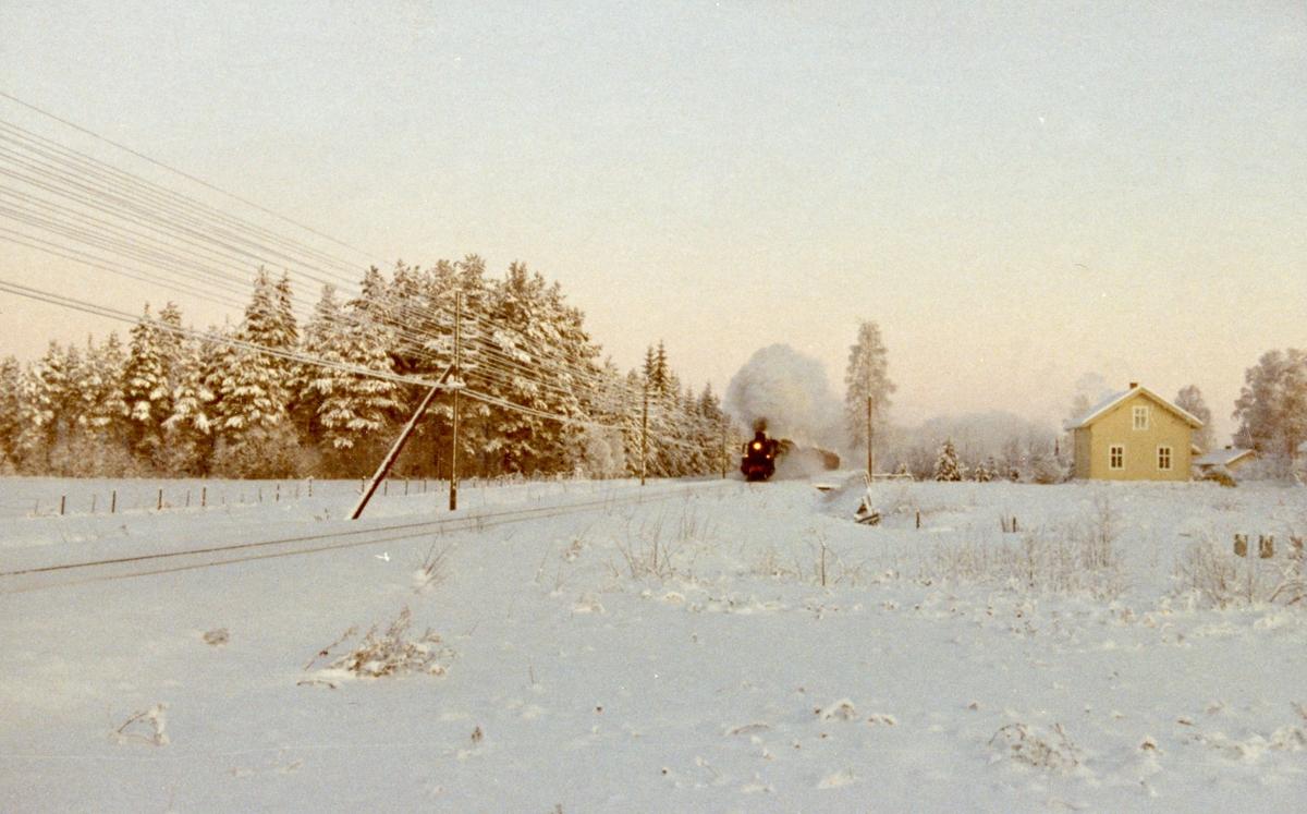 Godstog fra Kongsvinger til Elverum trukket av damplok 26c 411