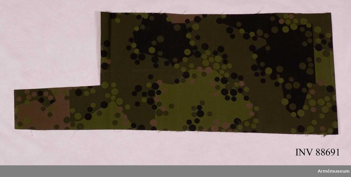 Kamouflageförsök under 1950-talet. Många konstnärer blev inspirerade av detta mönster.