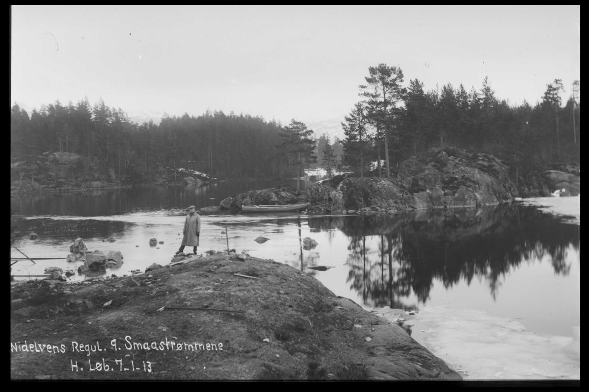 Arendal Fossekompani i begynnelsen av 1900-tallet CD merket 0446, Bilde: 57 Sted: Småstraumene Beskrivelse: Regulering