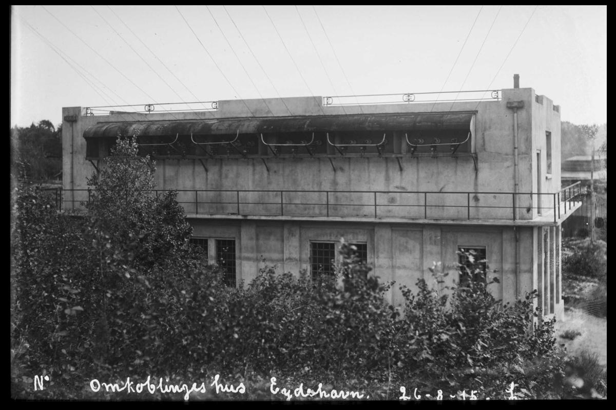 Arendal Fossekompani i begynnelsen av 1900-tallet CD merket 0565, Bilde: 98 Sted: Bøylefoss ?? Beskrivelse: Omkoblinjgshuset