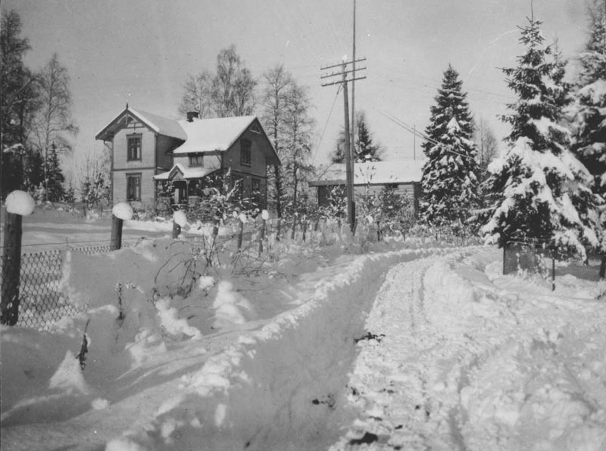 """Villa """"Rosedell"""", Løvåsvegen."""