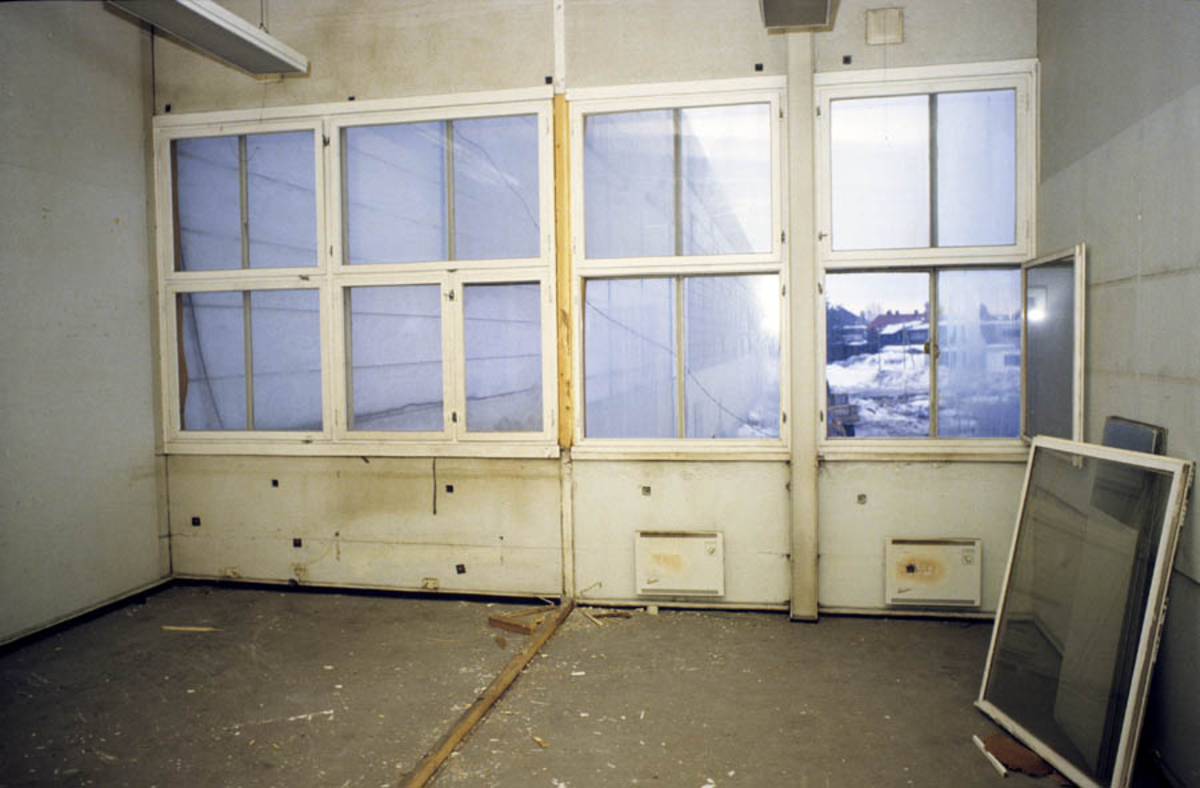 Strømmen Staal under ombygging, interiør
